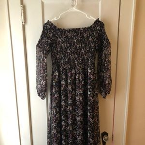 CeCe Floral Off-the-Shoulder Maxi Dress